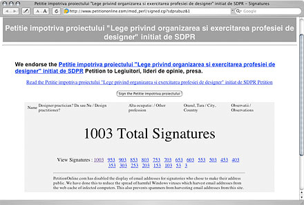 Over one thousand signatures